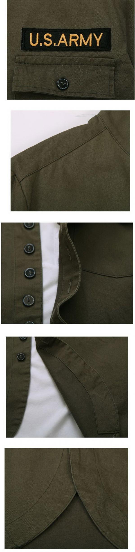 เสื้อกันหนาวผู้ชายพร้อมส่ง : แจ๊คเก็ตปัก US ARMY