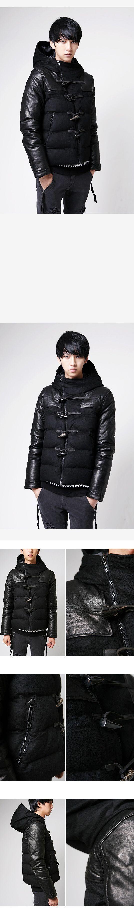 เสื้อกันหนาวพร้อมส่ง : แจ๊คเก็ตบุแขนหนัง