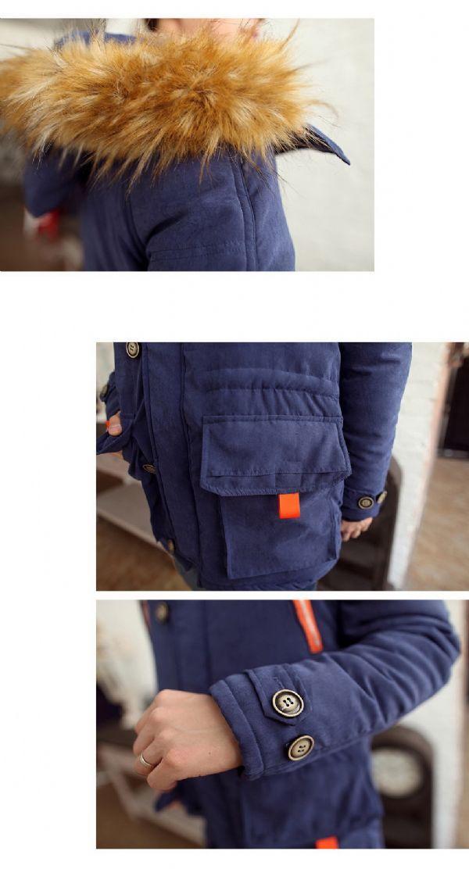 เสื้อกันหนาวผู้ชายพร้อมส่ง : โค้ทบุด้านในซับ fur ฮูด fur