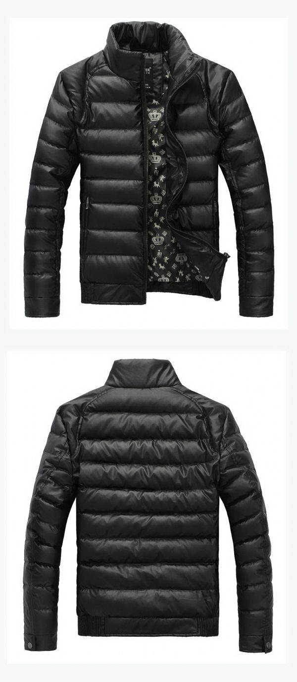 เสื้อกันหนาวผู้ชายพร้อมส่ง : โค้ทขนเป็ดคอตั้ง casual