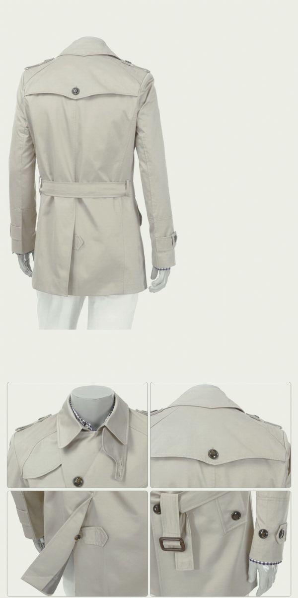 เสื้อผ้าแฟชั่นพร้อมส่ง : โค้ท windbreaker ตัวยาวพร้อมเข็มขัด