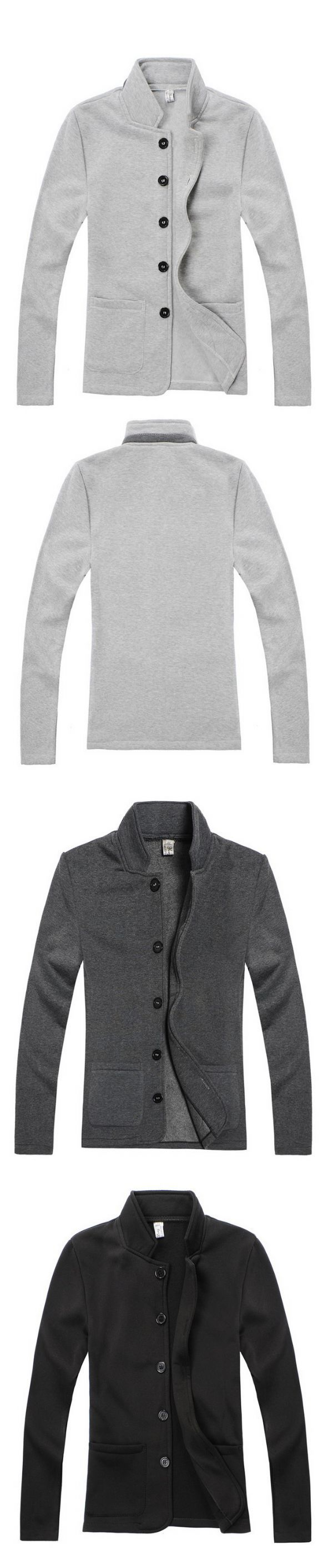 เสื้อผ้าผู้ชายพร้อมส่ง : แจ๊กเก็ตผ้า fleeceปกตั้ง