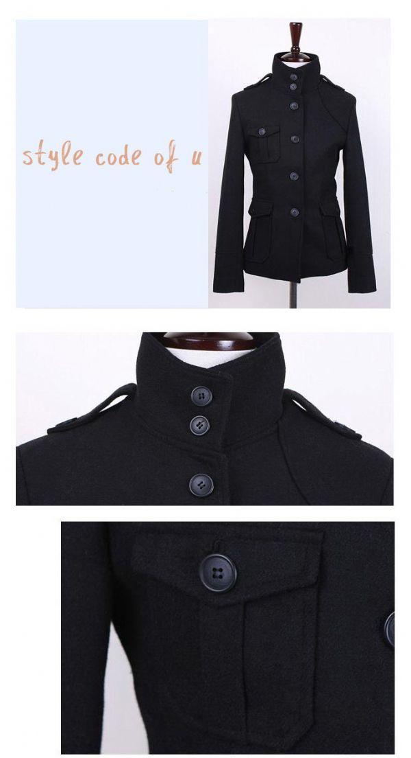 เสื้อกันหนาวผู้ชายพร้อมส่ง : แจ๊คเก็ต wool คอตั้งสไตล์อังกฤษ