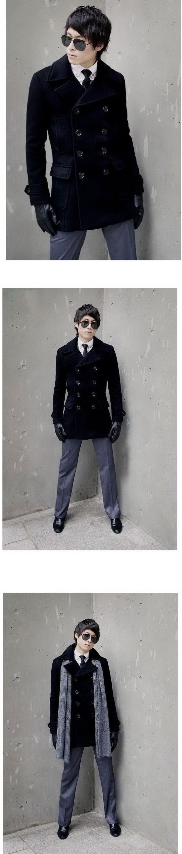 เสื้อกันหนาวผู้ชายพร้อมส่ง : โค้ท wool double breast