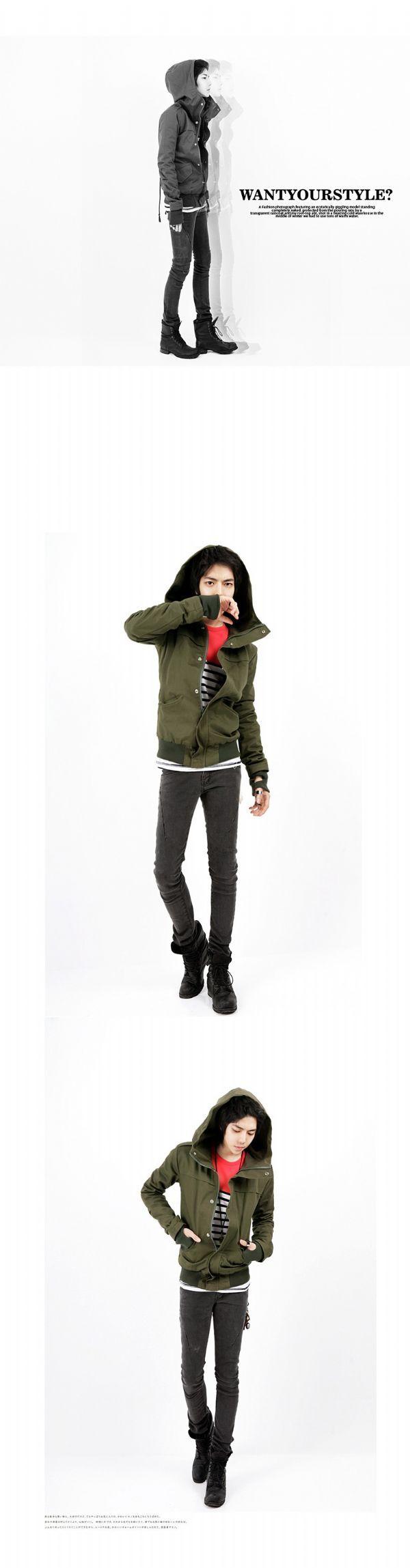 เสื้อกันหนาวผุ้ชายพร้อมส่ง : แจ๊คเก็ต hood + glove