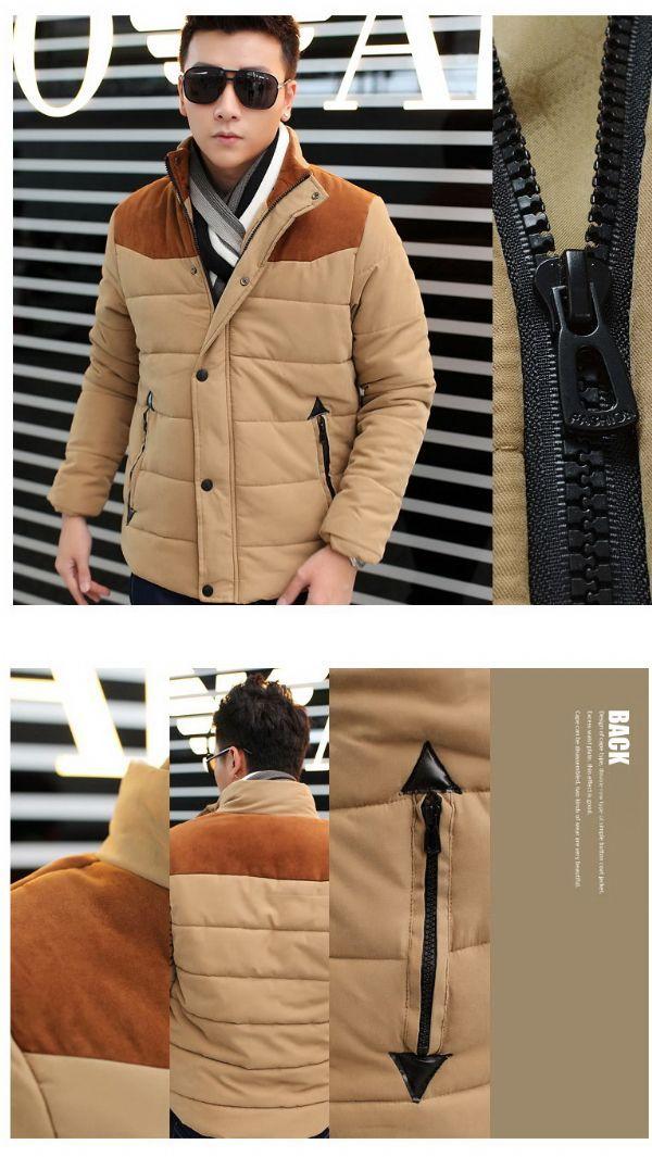 เสื้อกันหนาวผู้ชายพร้อมส่ง : โค้ทแต่งบ่าผ้ากำมะหยี่