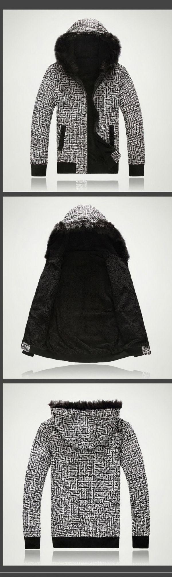 เสื้อกันหนาวผู้ชายพร้อมส่ง : แจ๊คเก็ต cotton หนาบุขน fur ใส่ได้ 2 ด้าน