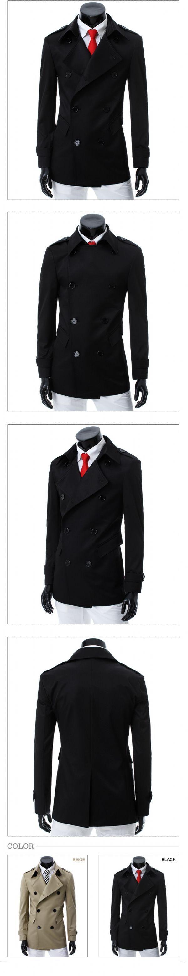 เสื้อกันหนาวผู้ชายพร้อมส่ง : โค้ท double breast/wind breaker