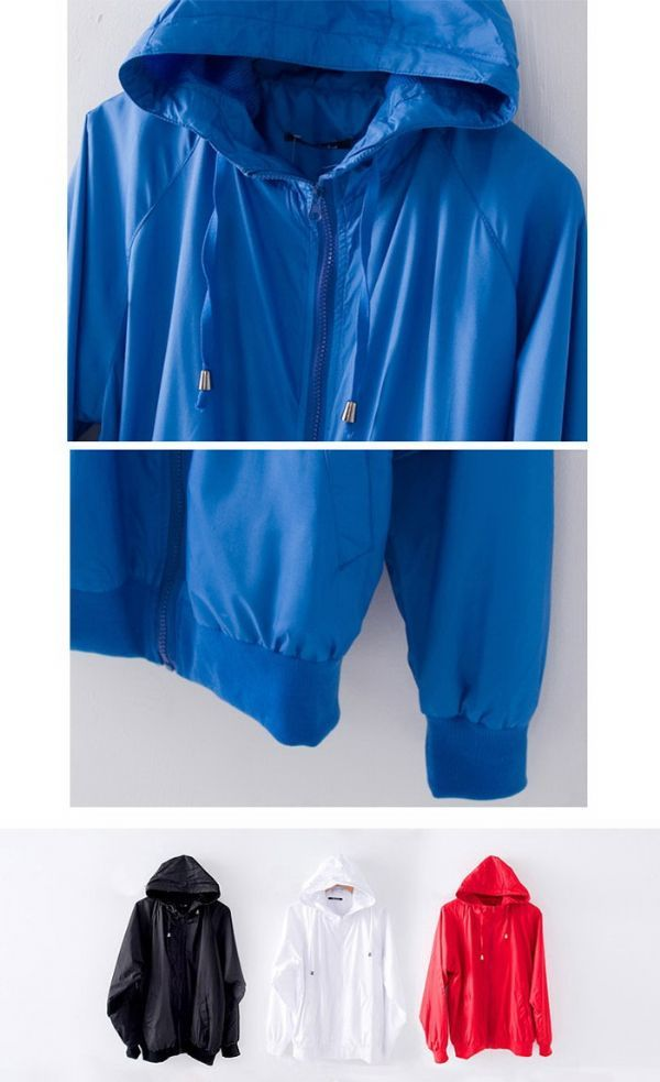 เสื้อผ้าผู้ชายพร้อมส่ง : แจ๊คเก็ต windbreaker กันลมกันน้ำ