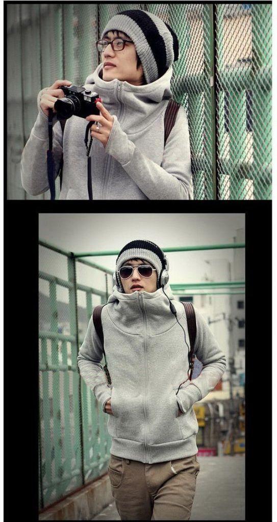 เสื้อกันหนาวผู้ชาย เสื้อผ้าผู้ชายพร้อมส่ง : เสื้อกันหนาว casual style พร้อมฮูด