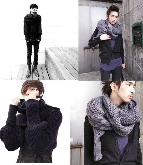 2-in-1 ผ้าพันคอ/เสื้อคลุมกันหนาว