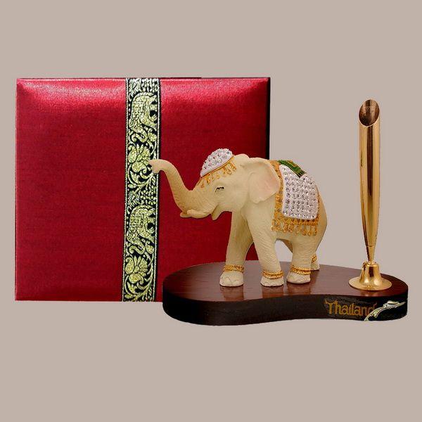 ที่่เสียบปากกา ช้างประดับเพชร