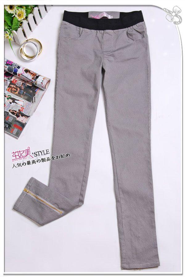 เสื้อผ้าแฟชั่น: กางเกงสกินนี่ ลายตารางละเอียด