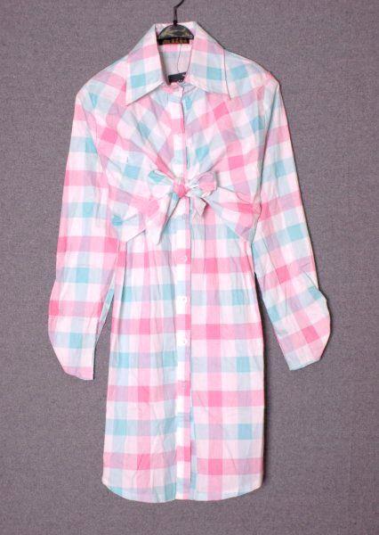 เสื้อผ้าแฟชั่น  : เดรสแนวเชิร์ตผูกโบว์