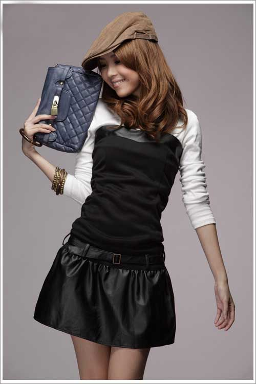 เสื้อผ้าแฟชั่น: เดรสเกาะอกโมเดิร์ลลล์