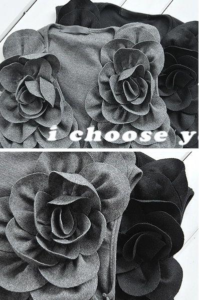 เสื้อผ้าแฟชั่น: เสื้อคลุมหรูจับจีบดอกสวย