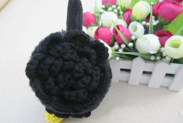 เสื้อกันหนาวพร้อมส่ง  : ที่ปิดหู earmuff แต่งดอกไม้นิตติ้ง