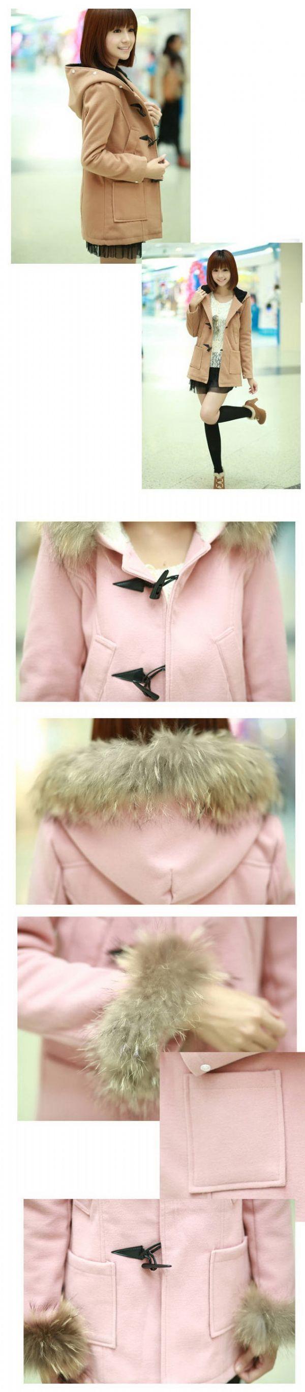 เสื้อกันหนาวพร้อมส่ง : โค้ท wool 2 แบบ 2 สไตล์  fur แขนและฮูดถอดได้