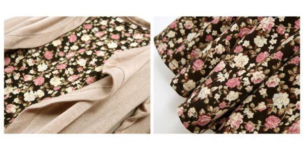 เสื้อผ้าแฟชั่นพร้อมส่ง : เดรสลายดอกพร้อมเสื้อคลุม