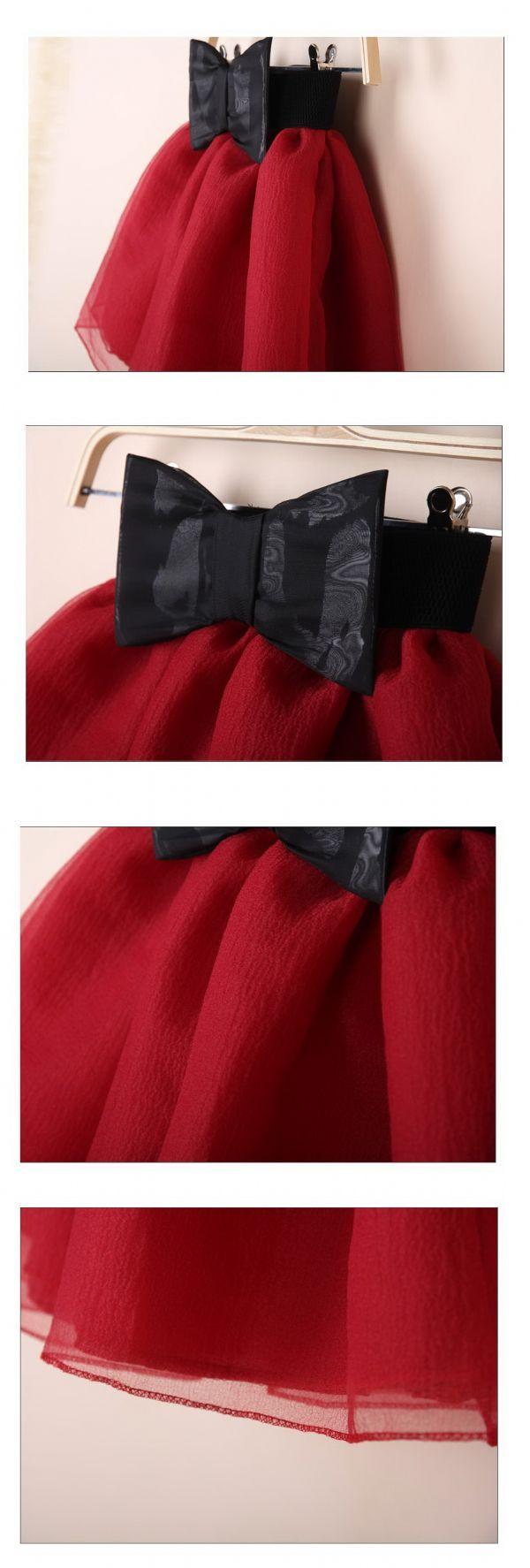 เสื้อผ้าแฟชั่นพร้อมส่ง : กระโปรงบานทรง princess เข็มขัดโบว์