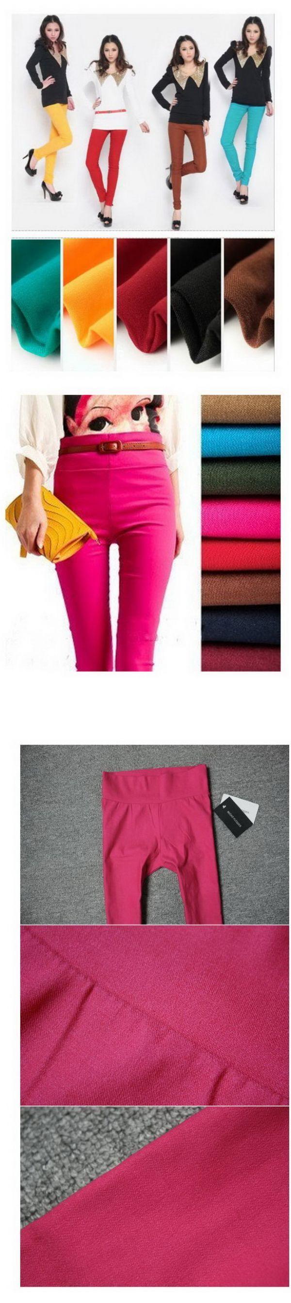 เสื้อผ้าแฟชั่นพร้อมส่ง : กางเกงสกินนี่ สี candy