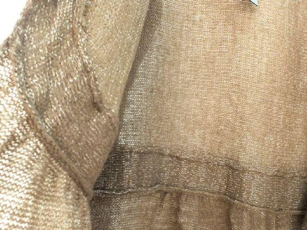เสื้อกันหนาวพร้อมส่ง : cardigan สีน้ำตาลทองต่อตะโพก
