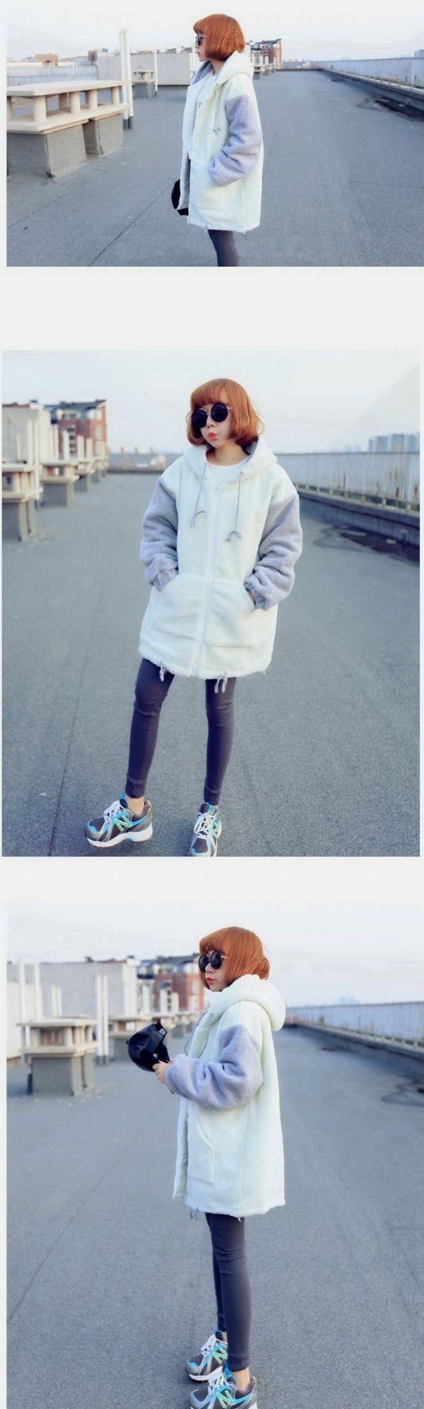 เสื้อกันหนาว : แจ๊คเก็ตผ้า fur ลายขนแกะ