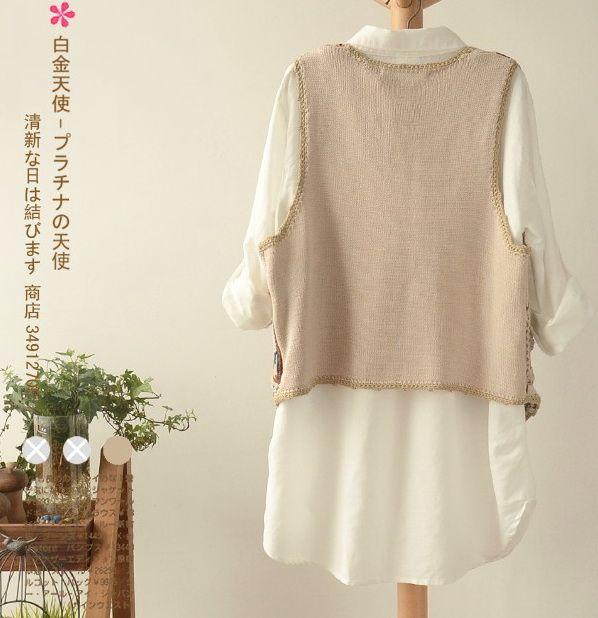 เสื้อกันหนาวพร้อมส่ง : เสื้อกั๊กนิตต์สไตล์ญี่ปุ่น