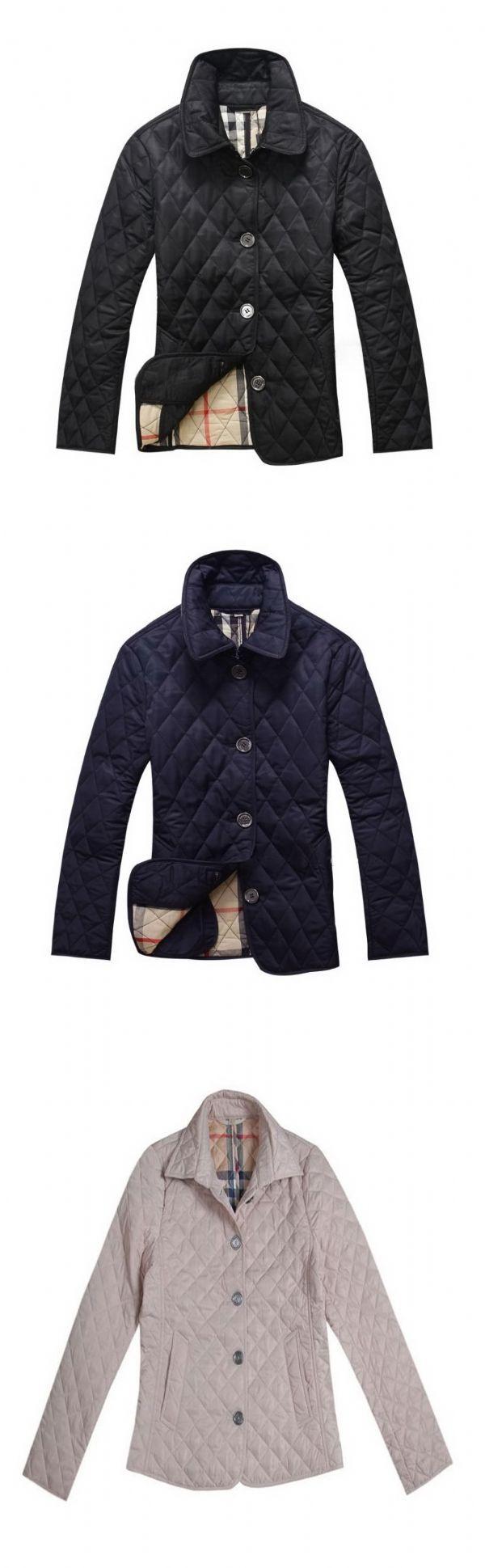 เสื้อกันหนาวพร้อมส่ง : แจ๊คเก็ต quilted สลิมสไตล์ยุโรป burbery