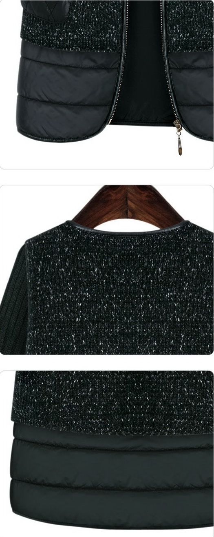 เสื้อกันหนาว : แจ๊คเก็ตนิตต์สีดำกระเป๋าคิวท์