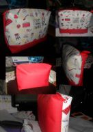 กระเป๋าพรีเมี่ยมลักษณะตามแบบขนาด A4 แนวนอน กระทัดรัดสกรีนตามแบบสวยงามมากเหมาะกับนักเรียน สตรีทั่วไป